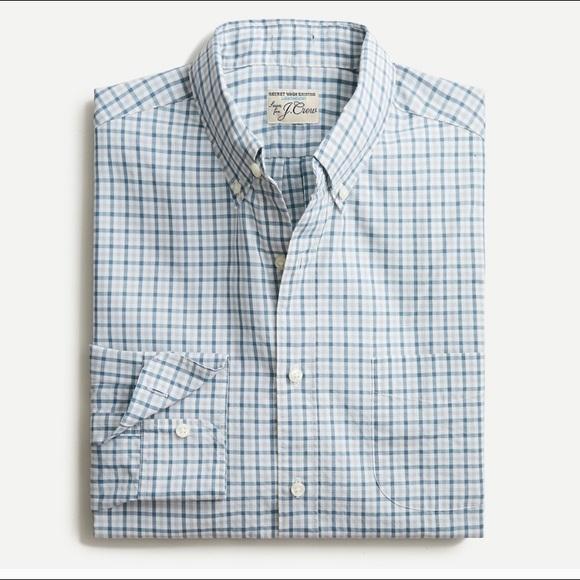 J.Crew Slim Fit Light Weight Secret Wash Shirt, M